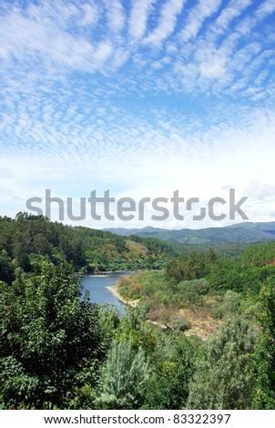 Minho river, north of Portugal. - stock photo