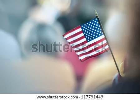 mini american flag - stock photo