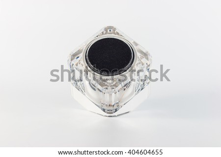mini bluetooth speaker on white background