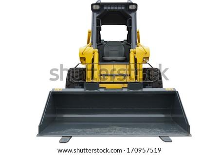 Mini bulldozer isolated on white  - stock photo