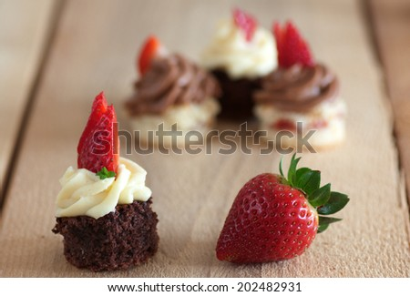mini cakes for holidays - stock photo