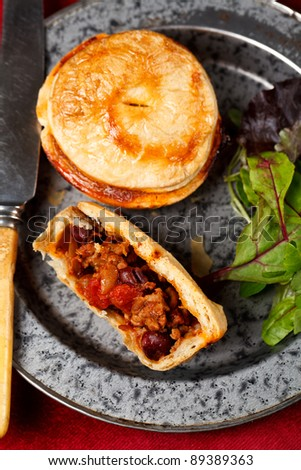 Mini chilli beef and bean pies