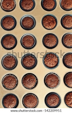 Mini Chocolate cupcakes background
