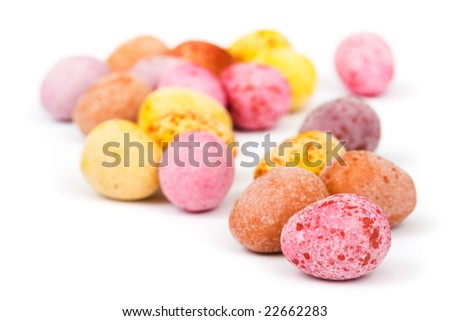 Mini easter eggs - stock photo