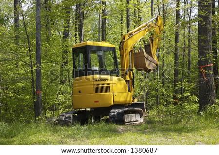 Mini Excavator - stock photo