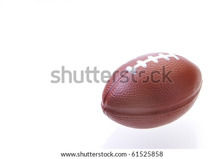 Mini football on a white background with reflection - stock photo