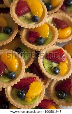 Mini Fruit Tarts - stock photo