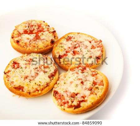 mini pizza - stock photo