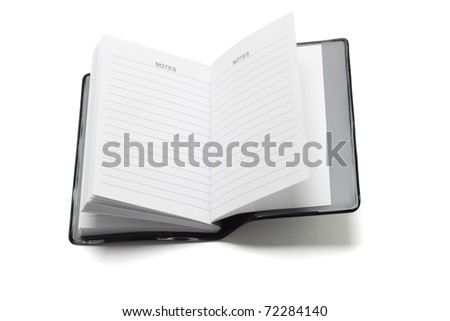 Mini pocket note book on white background