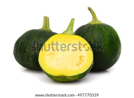 Mini squash isolated on white