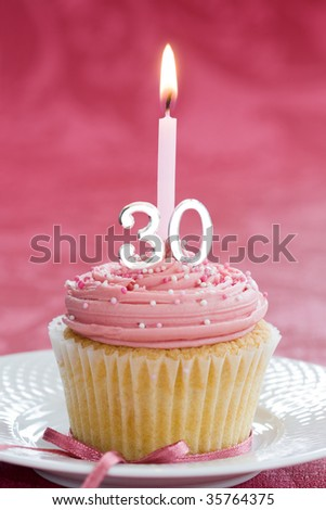 Mini thirtieth birthday cake - stock photo