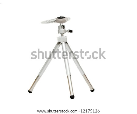 Mini tripod for compact cameras isolated on white