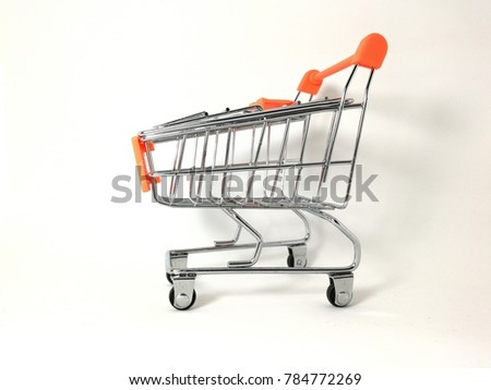 mini trolley with white background