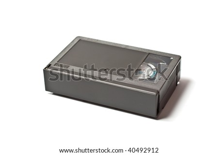 mini video tape isolated on white - stock photo