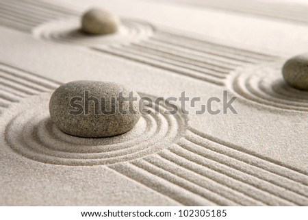 Mini zen garden - stock photo