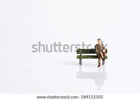 Miniature at leisure - stock photo