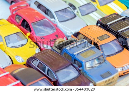 Miniature collectible cars - stock photo