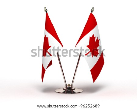 Miniature Flag of Canada (Isolated with clipping path) - stock photo