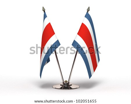Miniature Flag of Costa Rica (Isolated with clipping path) - stock photo