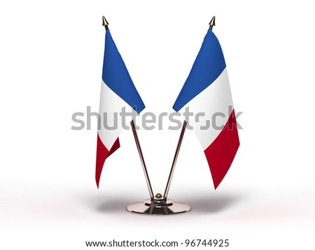 Miniature Flag of France - stock photo
