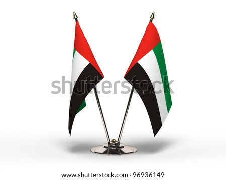 Miniature Flag of United Arab Emirates  (Isolated with clipping path) - stock photo