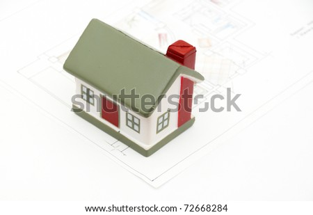 miniature house (i am author of this drawing) - stock photo
