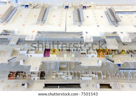 miniature mall model