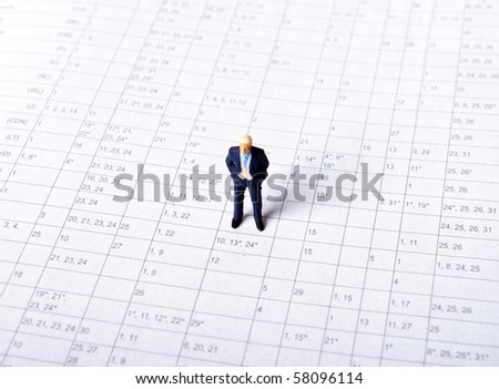 miniature man - stock photo