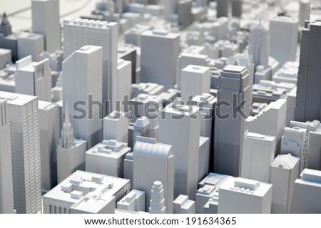 Miniature of Chicago city - stock photo