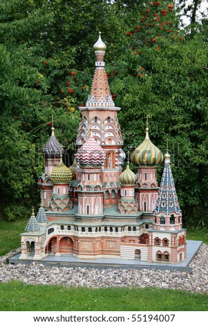 Miniature of the Cathedral of Basil the Blessed - stock photo