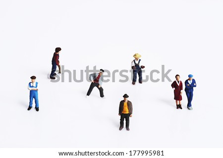 Miniature peoples - stock photo
