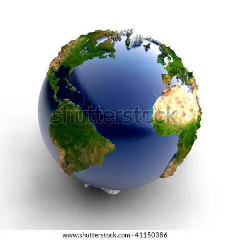 Miniature real Earth - stock photo