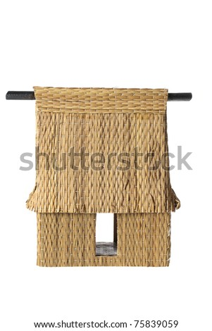 Miniature Thatch on White Background