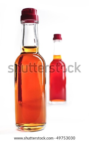 MiniBar bottles with alcohol