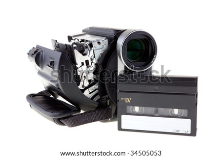 MiniDV camcorder with tape