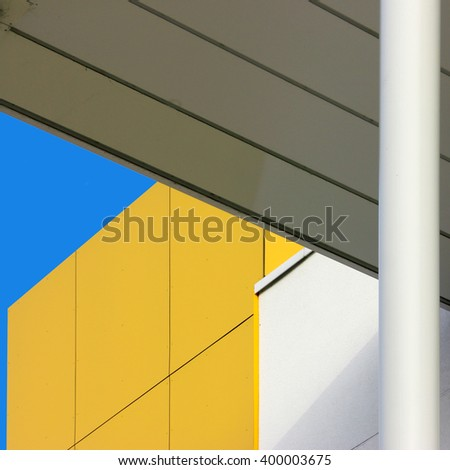 Minimal Abstract. Simple  architectural design and detail.