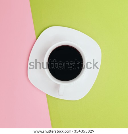 Minimal Fashion Vanilla Style. Cup of black Drink - stock photo