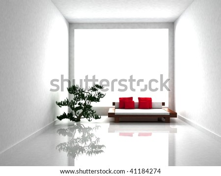 minimal Interior room - stock photo