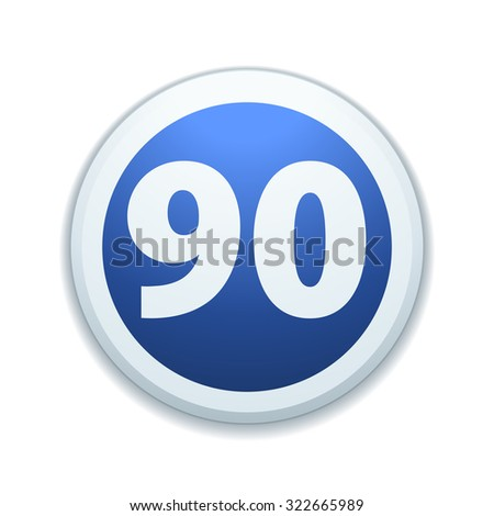 Minimal speed to 90 kilometers per hour traffic sign - stock photo