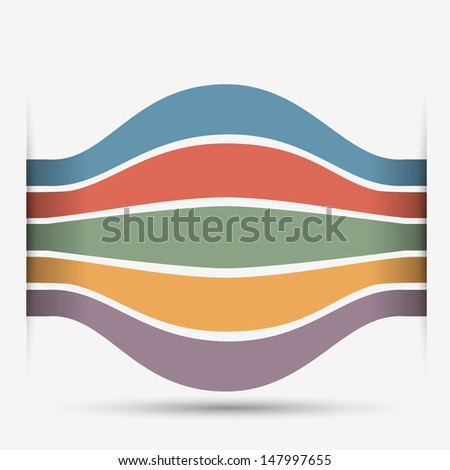 Minimalist style - banners for design.Raster version - stock photo