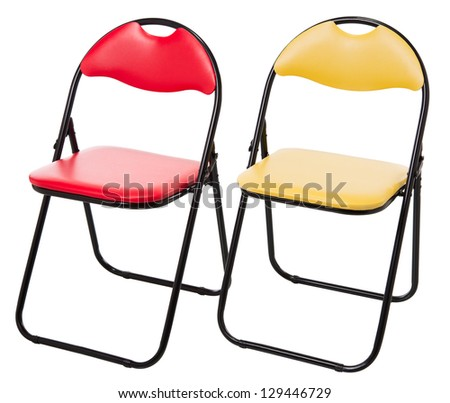 Minimalistic chairs isolated on white - stock photo
