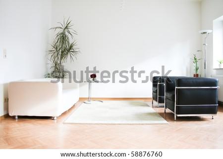minimalistic interior design - stock photo