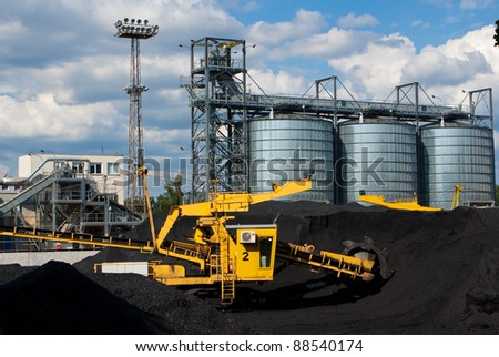 mining and industry landscape - stock photo