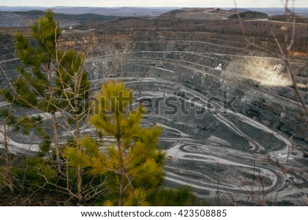 Mining and Processing Plant - stock photo