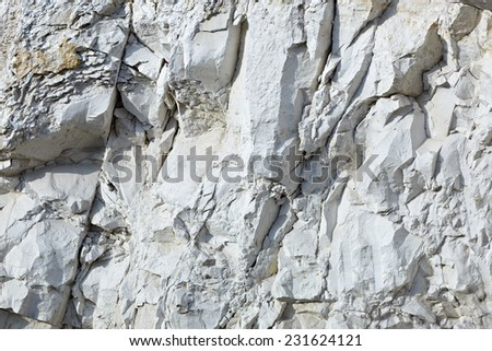 Mining and quarrying. Chalky mountains. - stock photo