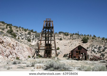 Mining for gold in America's wild west - stock photo