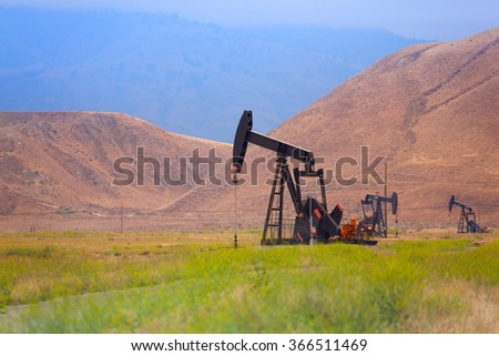Mining in the mountains and fields of California - stock photo