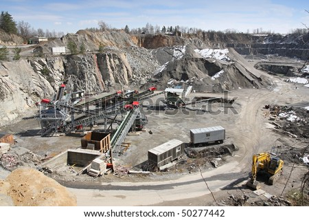 Mining in the quarry - stock photo