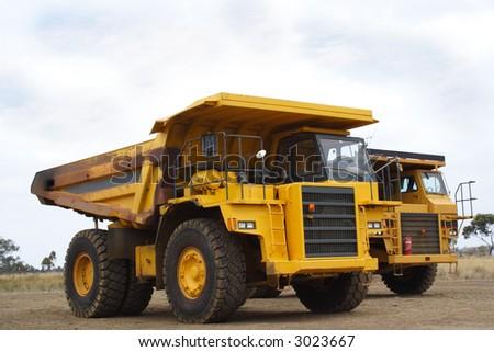 Mining truck - stock photo
