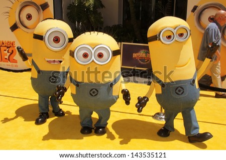 "Minions at the ""Despicable Me 2"" Los Angeles Premiere, Universal Citiwalk, Universal City, CA 06-22-13 - stock photo"